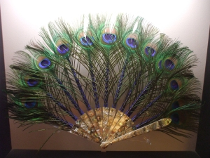 peacock fan by Duvelleroy