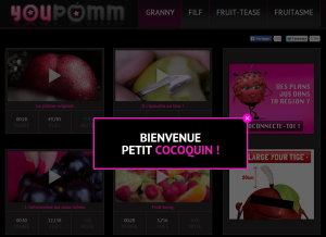 page youpomm avec vidéos fruits