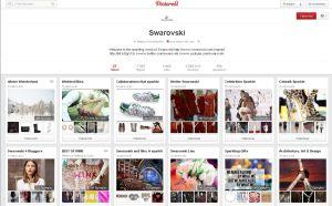 Swarovski sur les réseaux sociaux