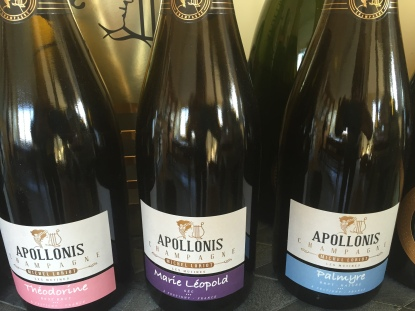 étiquettes du champagne Apollonis Michel LOriot